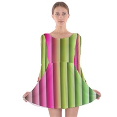 Vertical Blinds A Completely Seamless Tile Able Background Long Sleeve Velvet Skater Dress