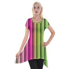 Vertical Blinds A Completely Seamless Tile Able Background Short Sleeve Side Drop Tunic