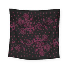 Pink Floral Pattern Background Square Tapestry (small) by Nexatart