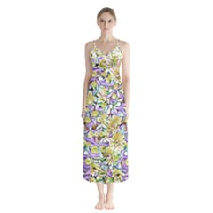 Lovely Floral 31e Button Up Chiffon Maxi Dress by MoreColorsinLife