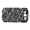 Digitally Created Peacock Feather Pattern In Black And White Samsung Galaxy S III Classic Hardshell Case (PC+Silicone) View1