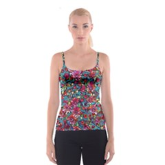 Lovely Floral 31a Spaghetti Strap Top