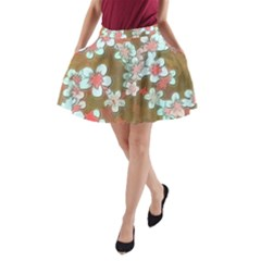Lovely Floral 29 A A Line Pocket Skirt by MoreColorsinLife