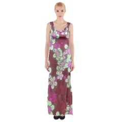 Lovely Floral 29 B Maxi Thigh Split Dress by MoreColorsinLife