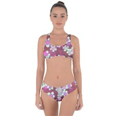 Lovely Floral 29 B Criss Cross Bikini Set by MoreColorsinLife