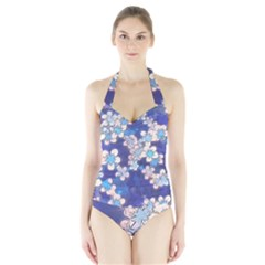Lovely Floral 29 C Halter Swimsuit by MoreColorsinLife