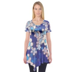 Lovely Floral 29 C Short Sleeve Tunic  by MoreColorsinLife