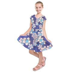 Lovely Floral 29 C Kids  Short Sleeve Dress by MoreColorsinLife