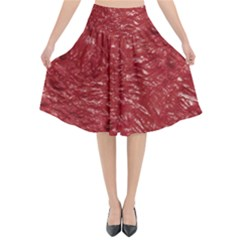 Thick Wet Paint E Flared Midi Skirt by MoreColorsinLife