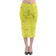 Thick Wet Paint F Midi Pencil Skirt by MoreColorsinLife
