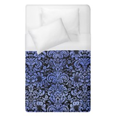Damask2 Black Marble & Blue Watercolor Duvet Cover (single Size) by trendistuff