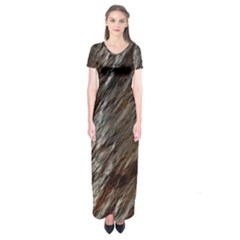 Wet Stone 11 Short Sleeve Maxi Dress by MoreColorsinLife