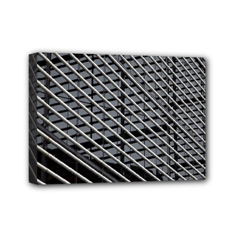Abstract Architecture Pattern Mini Canvas 7  X 5  by Nexatart