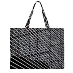 Abstract Architecture Pattern Zipper Large Tote Bag