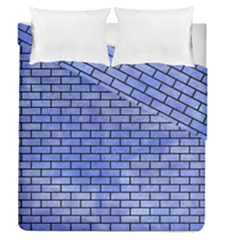 Brick1 Black Marble & Blue Watercolor (r) Duvet Cover Double Side (queen Size) by trendistuff