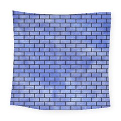 Brick1 Black Marble & Blue Watercolor (r) Square Tapestry (large) by trendistuff