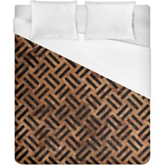 Woven2 Black Marble & Brown Stone (r) Duvet Cover (california King Size) by trendistuff
