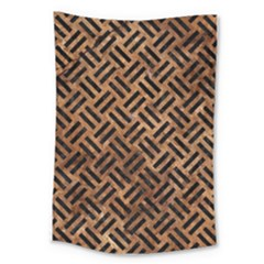 Woven2 Black Marble & Brown Stone (r) Large Tapestry by trendistuff