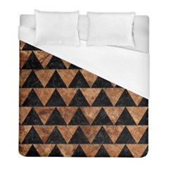 Triangle2 Black Marble & Brown Stone Duvet Cover (full/ Double Size) by trendistuff