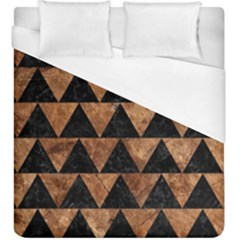 Triangle2 Black Marble & Brown Stone Duvet Cover (king Size) by trendistuff