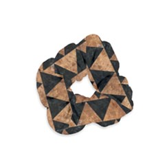 Triangle2 Black Marble & Brown Stone Velvet Scrunchie by trendistuff