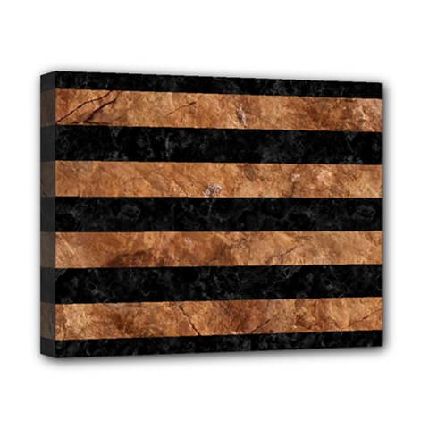 Stripes2 Black Marble & Brown Stone Canvas 10  X 8  (stretched) by trendistuff