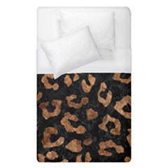 Skin5 Black Marble & Brown Stone (r) Duvet Cover (single Size) by trendistuff