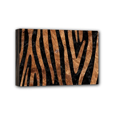 Skin4 Black Marble & Brown Stone (r) Mini Canvas 6  X 4  (stretched) by trendistuff