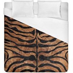 Skin2 Black Marble & Brown Stone (r) Duvet Cover (king Size) by trendistuff