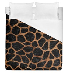 Skin1 Black Marble & Brown Stone (r) Duvet Cover (queen Size) by trendistuff