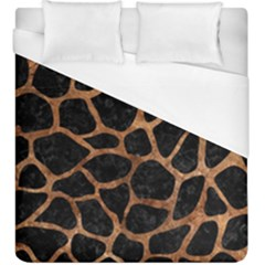 Skin1 Black Marble & Brown Stone (r) Duvet Cover (king Size) by trendistuff