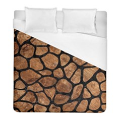 Skin1 Black Marble & Brown Stone Duvet Cover (full/ Double Size) by trendistuff