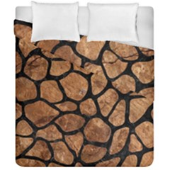 Skin1 Black Marble & Brown Stone Duvet Cover Double Side (california King Size) by trendistuff