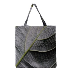 Leaf Detail Macro Of A Leaf Grocery Tote Bag by Nexatart