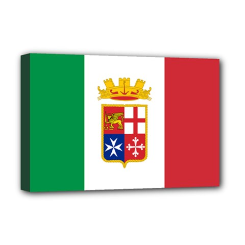 Naval Ensign Of Italy Deluxe Canvas 18  X 12   by abbeyz71