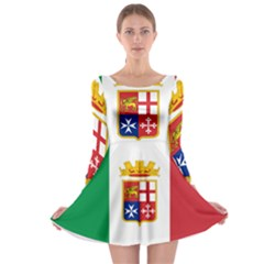 Naval Ensign Of Italy Long Sleeve Skater Dress by abbeyz71