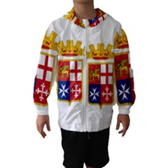 Naval Ensign Of Italy Hooded Wind Breaker (kids) by abbeyz71