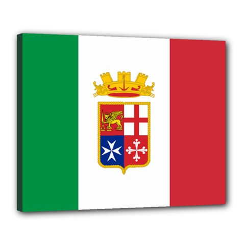 Naval Ensign Of Italy Canvas 20  X 16  by abbeyz71
