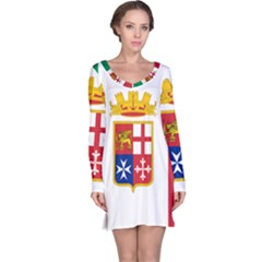Naval Ensign Of Italy Long Sleeve Nightdress by abbeyz71