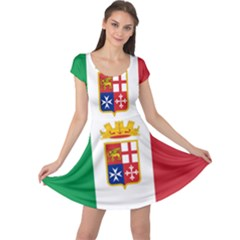 Naval Ensign Of Italy Cap Sleeve Dresses by abbeyz71