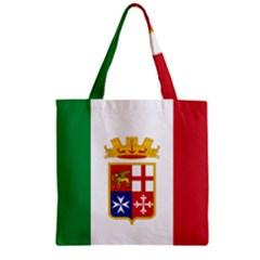 Naval Ensign Of Italy Zipper Grocery Tote Bag by abbeyz71