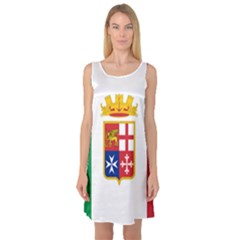 Naval Ensign Of Italy Sleeveless Satin Nightdress by abbeyz71
