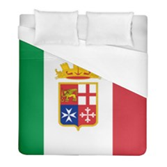 Naval Ensign Of Italy Duvet Cover (full/ Double Size) by abbeyz71