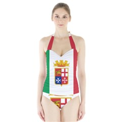 Naval Ensign Of Italy Halter Swimsuit by abbeyz71