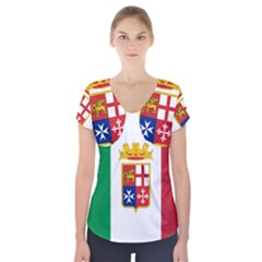 Naval Ensign Of Italy Short Sleeve Front Detail Top by abbeyz71