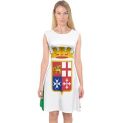 Naval Ensign Of Italy Capsleeve Midi Dress by abbeyz71