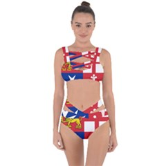 Naval Jack Of Italian Navy  Bandaged Up Bikini Set