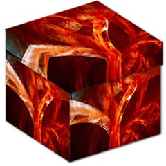 Red Abstract Pattern Texture Storage Stool 12   by Nexatart