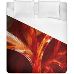 Red Abstract Pattern Texture Duvet Cover (california King Size)