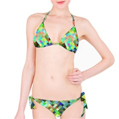 Pixel Pattern A Completely Seamless Background Design Bikini Set